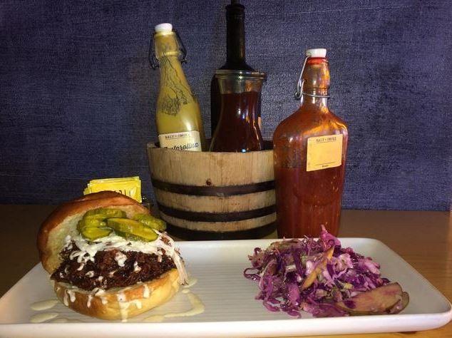 Burger and sauces
