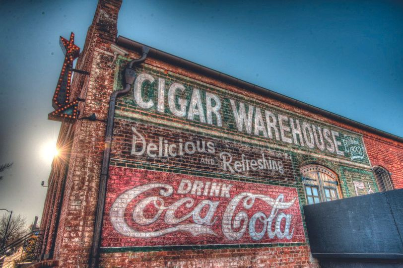 Exterior view of the The Old Cigar Warehouse
