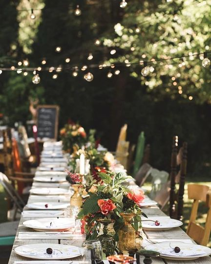 Long table set-up