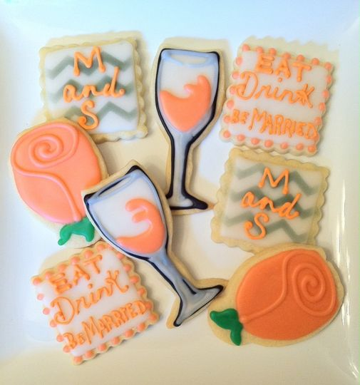 Custom cutout cookies make great favors! They also stand out on a dessert buffet and make a...