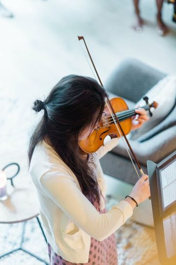 Playing the violin