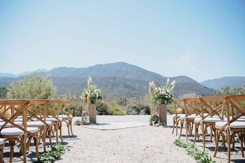 Wedding cermeony setup