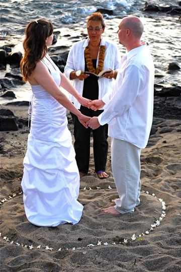 We provide the 2 witnesses required for Hawaii State Weddings, if your are traveling alone.