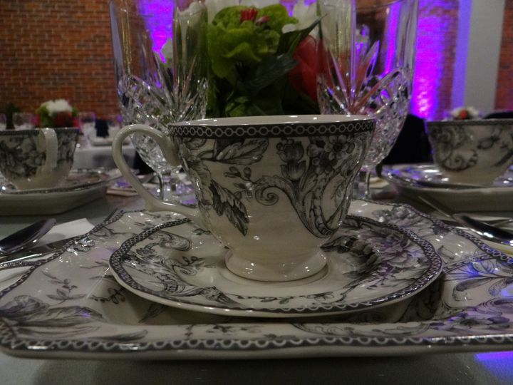 A fancy affair made complete with china and silverware