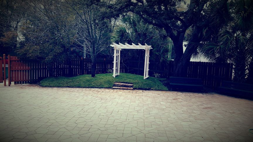 Wedding venue and arbor