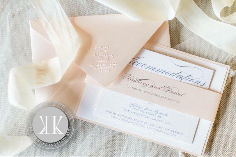 Lush pink invitations