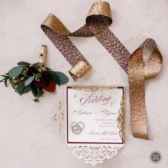 Elegant Diecut Invitation