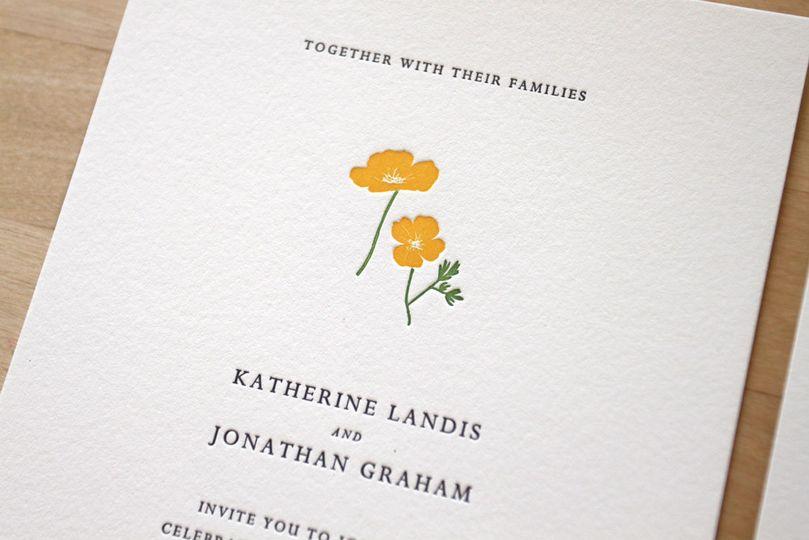 800x800 1483582513899 Letterpress Wedding Invitations California Flowers