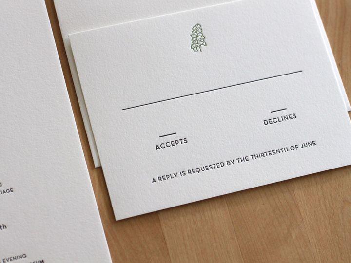 Tmx 1460830892669 Botanic Garden Letterpress Wedding Invitation Durham wedding invitation