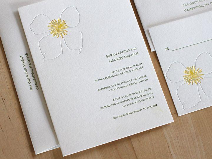 Tmx 1460830906318 Botanical Garden Letterpress Wedding Invitation Durham wedding invitation