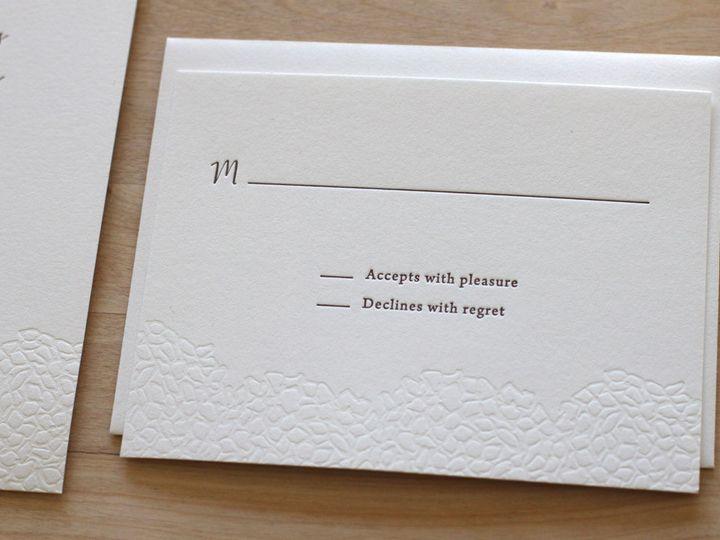 Tmx 1460830970059 Botanical Hydrangea Letterpress Wedding Invitation Durham wedding invitation