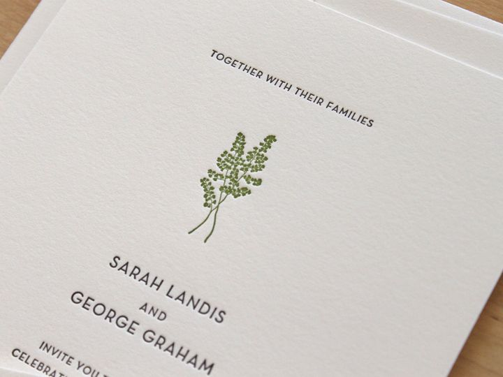 Tmx 1460830994536 Brooklyn Botanic Garden Wedding Invitations Durham wedding invitation