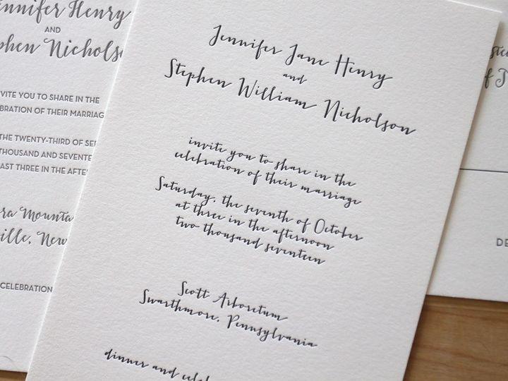Tmx 1483582448898 Calligraphy Wedding Invitations Letterpress Durham wedding invitation