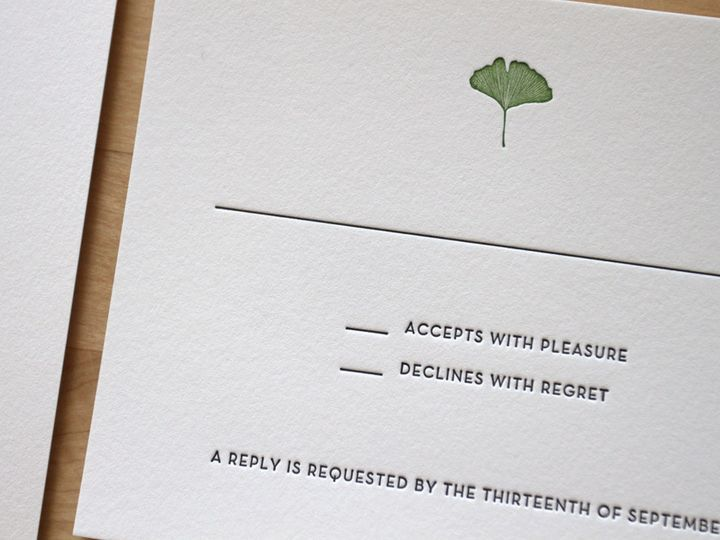 Tmx 1483582477530 Elegant Nature Wedding Invitation Letterpress Durham wedding invitation