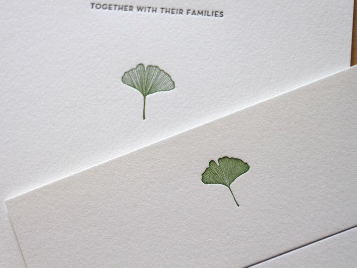 Tmx 1483582487480 Gingko Rustic Wedding Woodsy Durham wedding invitation