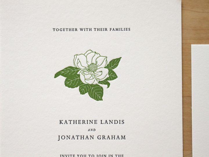 Tmx 1483582522933 Magnolia Letterpress Wedding Invitations Durham wedding invitation