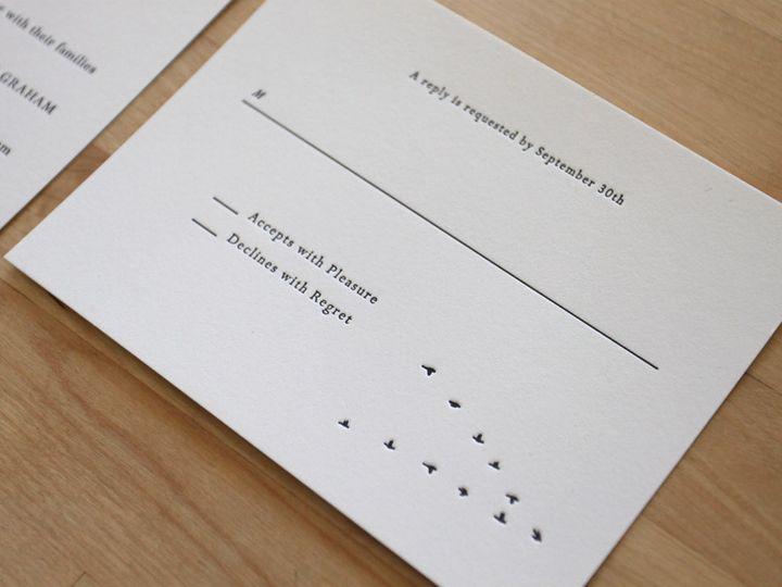 Tmx 1483582550962 Winter Birds Letterpress Wedding Invitations Durham wedding invitation