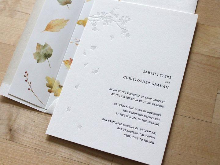 Tmx Autumn Leaves Letterpress Wedding Invitation 51 165078 159162205042239 Durham wedding invitation