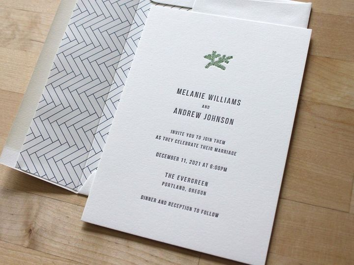 Tmx Evergreen Letterpress Wedding Invitation 51 165078 159162205193930 Durham wedding invitation