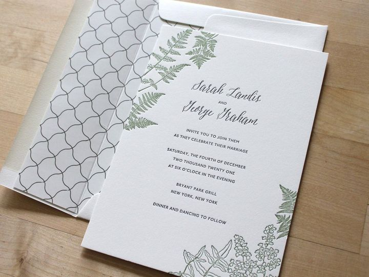 Tmx Fern Greenery Letterpress Wedding Invitation 51 165078 159162205214533 Durham wedding invitation
