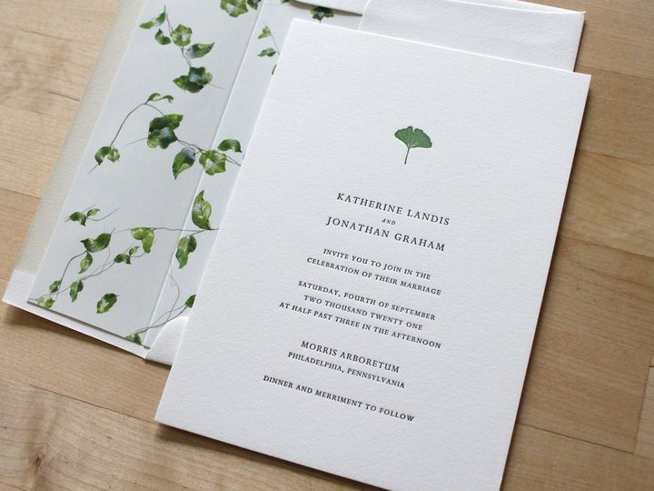 Tmx Gingko Letterpress Wedding Invitations 51 165078 159162211017414 Durham wedding invitation