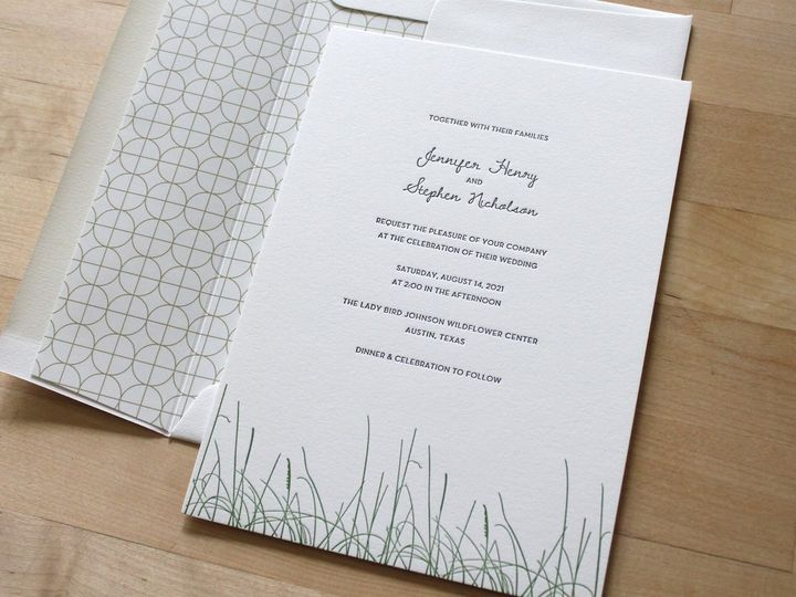 Tmx Grass Letterpress Wedding Invitation 51 165078 159162211062296 Durham wedding invitation