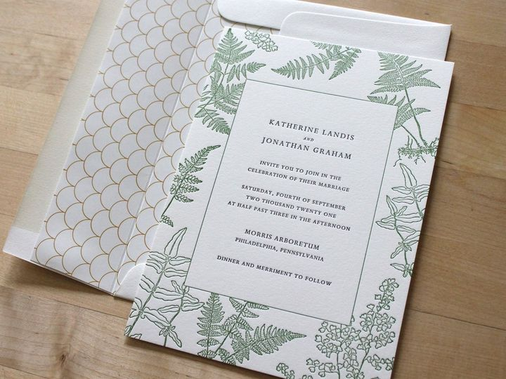 Tmx Letterpress Invitations Vintage Fern 51 165078 159162212264306 Durham wedding invitation