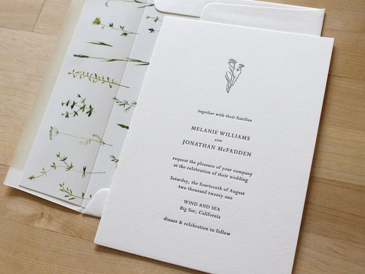 Tmx Letterpress Wedding Invitation California Native Plants Liner 51 165078 159162212293335 Durham wedding invitation