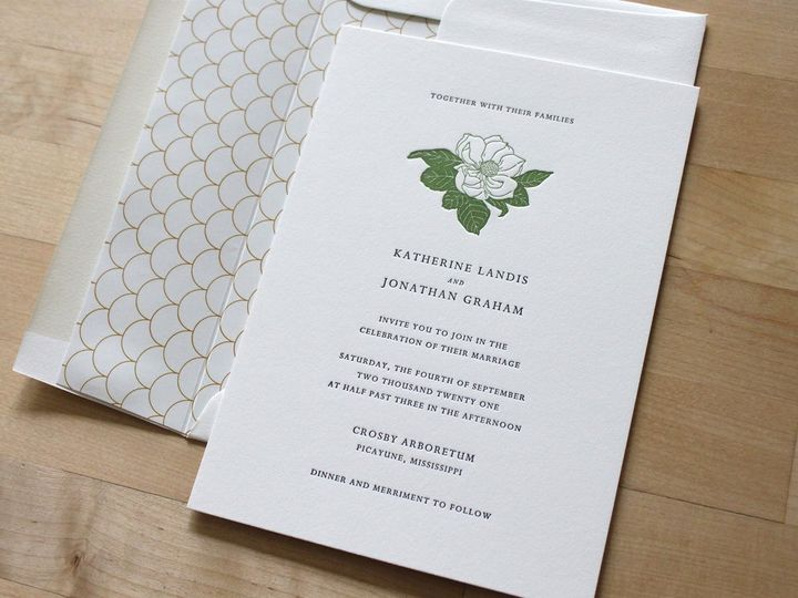 Tmx Magnolia Letterpress Wedding Invitation 51 165078 159162212214322 Durham wedding invitation