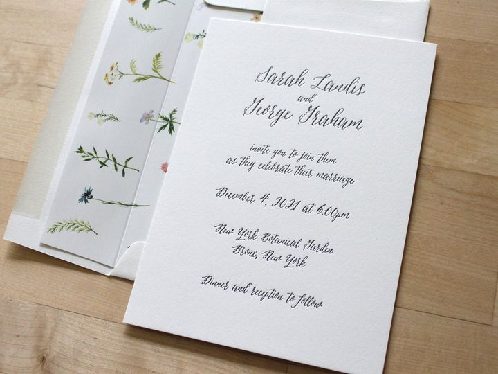 Tmx Script Letterpress Wedding Invitation Wild Flowers 51 165078 159162213038248 Durham wedding invitation