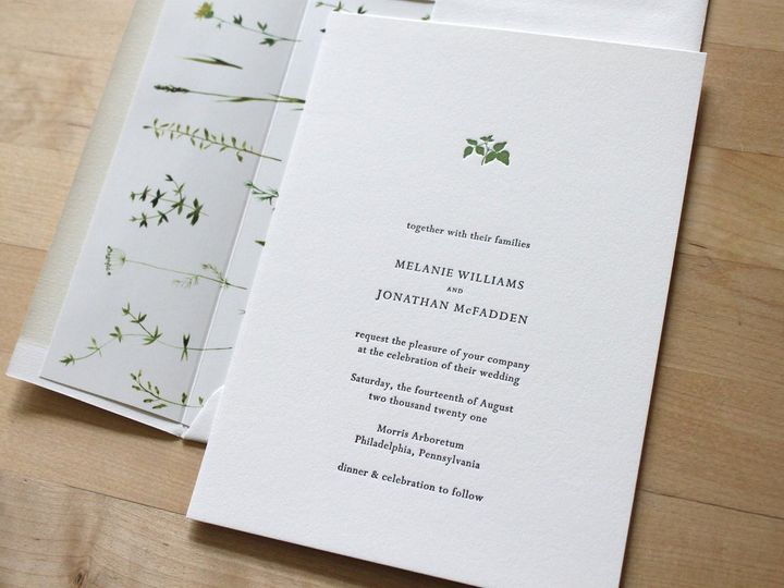 Tmx Small Leaf Letterpress Wedding Invitation 51 165078 159162213485733 Durham wedding invitation