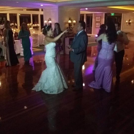 The bride was on the dance floor ALL NIGHT!