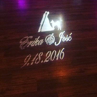 Gobo Monogram Light on the dance floor