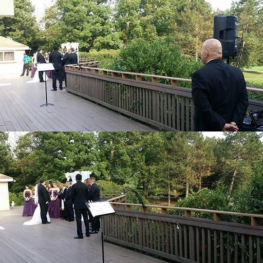 Wedding Ceremony Set Up.  We make sure we are not in the way of your photos.