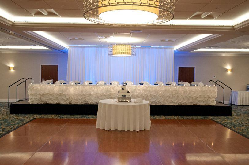wedding ballroom head table