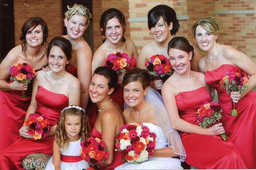 Ellen and her bridesmaids