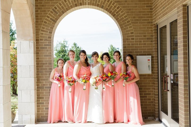 Mary and her bridesmaids