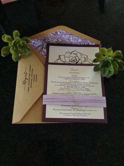 succulent invitation variation