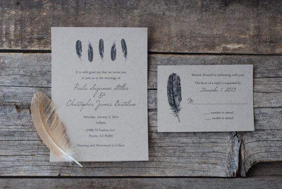 Tmx 1424706125372 Feather Invitation Coaldale wedding invitation