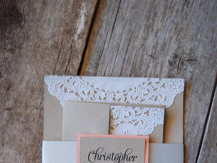 Tmx 1424706193198 Coral Lace Silver Invitation Coaldale wedding invitation