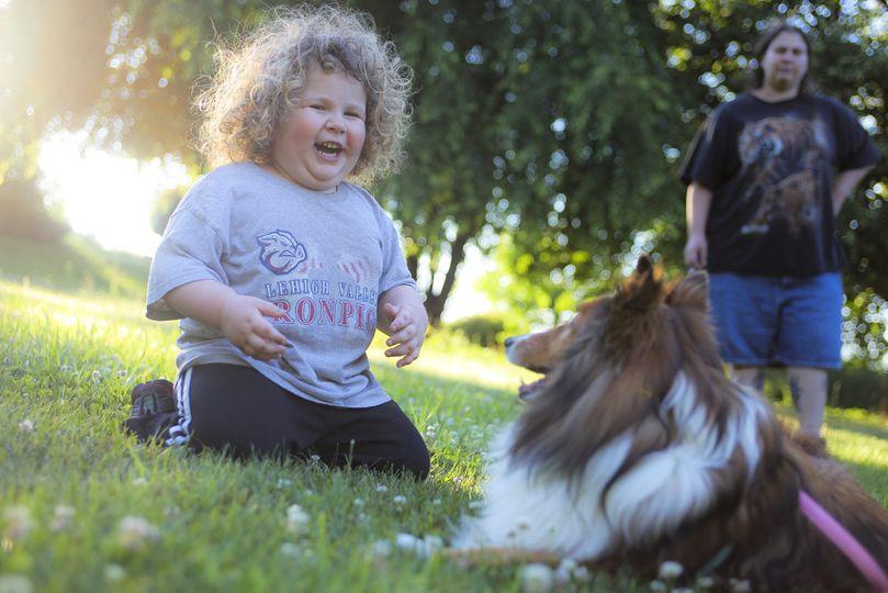 Boy meets dog