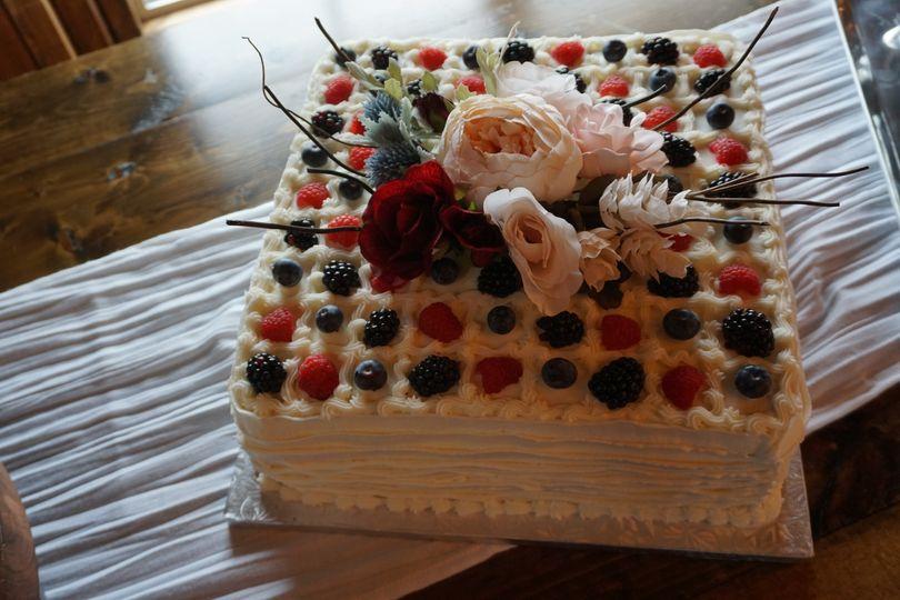 Rustic sheet cake
