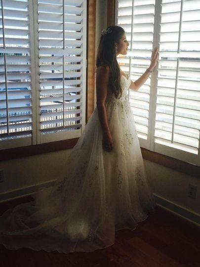 Bride Sara at DeBorah's Bridal
