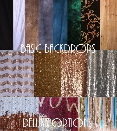 Sampling of our available backdrops