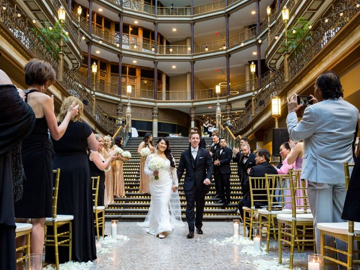 Tmx Hyatt Regency Cleveland Aisle Walk Bride Groom 51 120178 158274377211555 Cleveland wedding venue