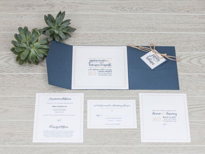 Tmx 1444325528917 Img7189 North Easton, MA wedding invitation