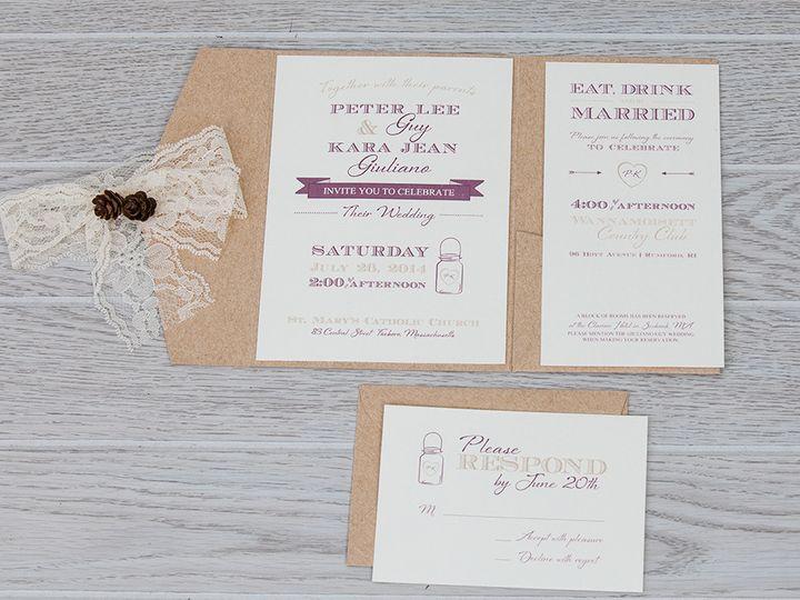 Tmx 1444325780311 Img7213 North Easton, MA wedding invitation