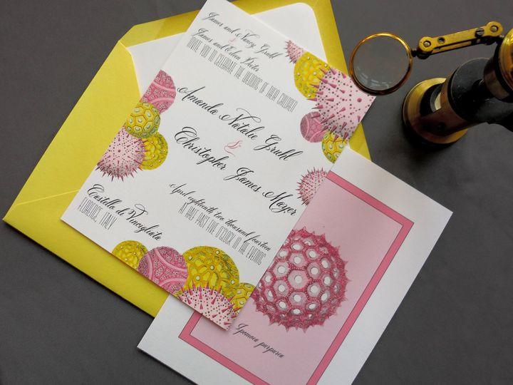 Palynology wedding invitations
