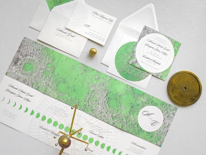 Selenography wedding invitations