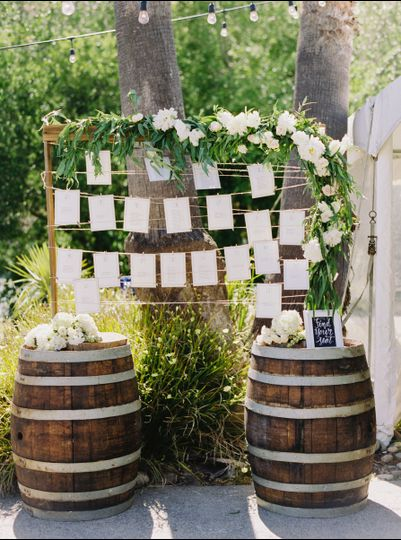 Cutest use of wine barrels for signage!!